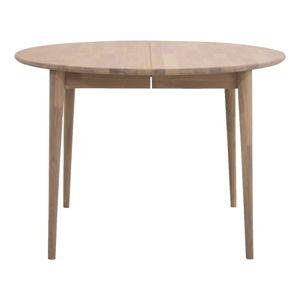 Kulatý rozkládací jídelní stůl z dubového dřeva Canett Martell, ø 110 cm