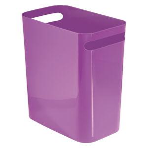 Fialový odpadkový koš iDesign Una, 13,9l