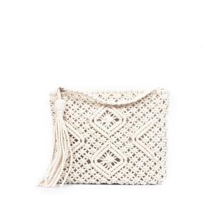 Béžová dámská bavlněná kabelka Nina Beratti Keola Beige