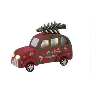 Červené dekorativní LED autíčko Ego Dekor Car