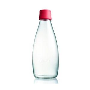 Malinově růžová skleněná lahev ReTap s doživotní zárukou, 800ml