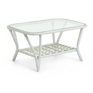 Bílý ratanový konferenční stolek La Forma Crampton, 90 x 60 cm