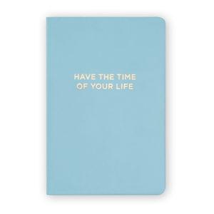 Modrý zápisník se zlatým písmem Tri-CoastalDesign