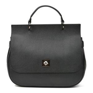 Černá kožená kabelka Renata Corsi Valentina