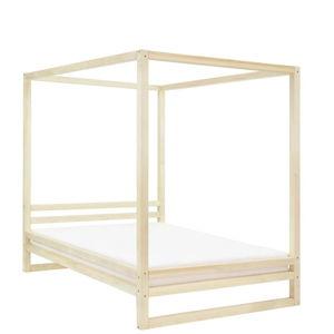 Dřevěná dvoulůžková postel Benlemi Baldee Viva Naturaleza, 200x180cm