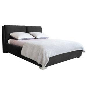 Černá dvoulůžková postel Mazzini Beds Vicky, 160x200cm