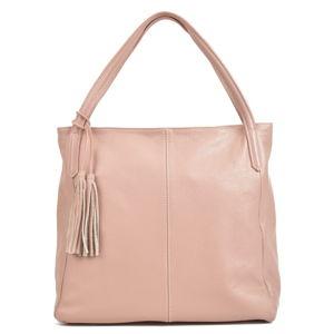 Růžová kožená kabelka Sofia Cardoni Caridad