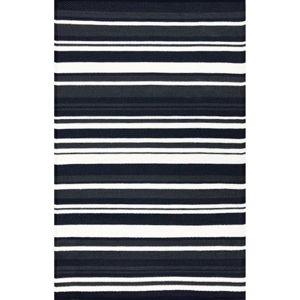 Černo-bílý oboustranný koberec vhodný i do exteriéru Green Decore Broadway, 150 x 90 cm