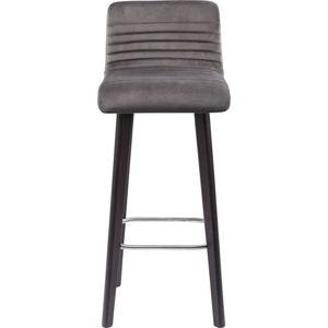 Šedá barová židle s černými nohami Kare Design Lara