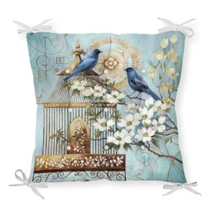 Podsedák na židli Minimalist Cushion Covers Blue Birds, 40 x 40 cm