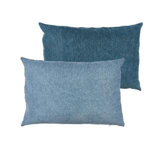Modrý polštář s vysokým podílem bavlny Södahl Klara, 40 x 60 cm