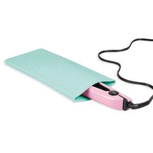 Tyrkysový silikonový obal na žehličku na vlasy iDesign Pouch