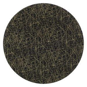 Černý plastový talíř InArt Golden, ⌀33cm