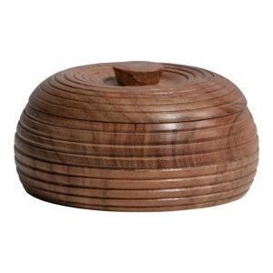 Přírodní dóza z akáciového dřeva BePureHome, 11 x 6 cm