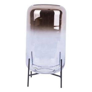 Skleněná váza PT LIVING Silver Fade, výška 29 cm
