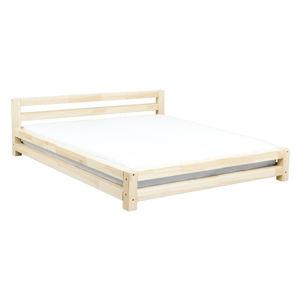 Dvoulůžková lakovaná postel z smrkového dřeva Benlemi Double,200x200cm