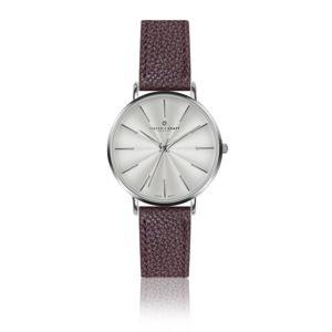 Dámské hodinky s páskem v bordó barvě z pravé kůže Frederic Graff Monte