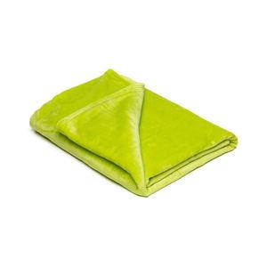 Světle zelená mikroplyšová deka My House, 150x200cm