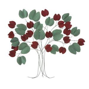 Nástěnná červeno-zelená nástěnná dekorace Mauro Ferretti Tree, 105x94cm