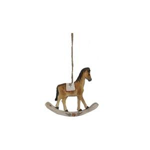 Závěsná dřevěná dekorace houpací koník Antic Line