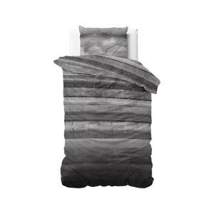 Šedé flanelové povlečení na jednolůžko Sleeptime Marcus,140x220cm