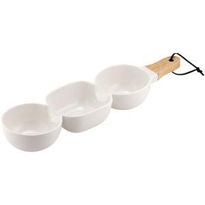 Bílá trojitá servírovací porcelánová miska Ladelle Classic