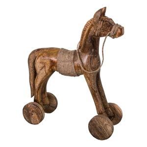 Dekorativní dřevěná socha koně Antic Line Cheval,výška31cm