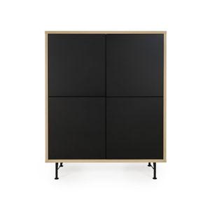 Černá skříň Tenzo Flow, 111x137cm