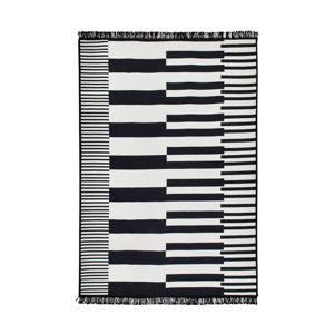 Černo-bílý oboustranný koberec Klotho, 140 x 215 cm