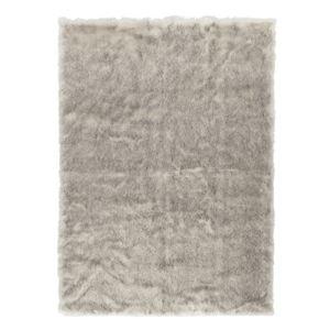 Šedohnědý koberec z umělé kožešiny Mint Rugs, 230 x 160 cm