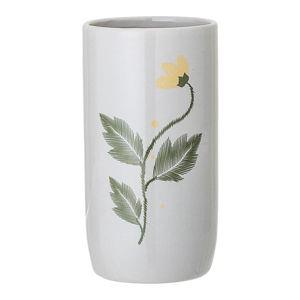 Bílá váza z kameniny Bloomingville Laburnum