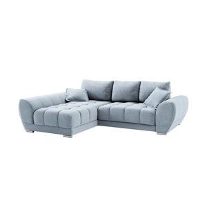Světle modrá rozkládací rohová pohovka Windsor & Co Sofas Cloudlet, levýroh