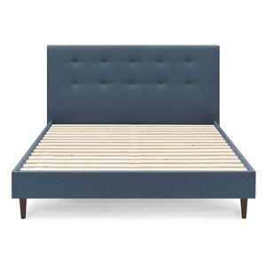 Modrá dvoulůžková postel Bobochic Paris Rory Dark, 180 x 200 cm