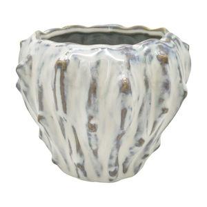 Slonovinově bílý keramický květináč PT LIVING Flora, ø 12,5 cm