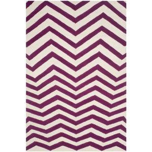 Fialový vlněný koberec Safavieh Edie, 243 x 152 cm