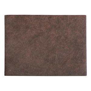 Tmavě hnědé prostírání z imitace kůže ZicZac Troja Rectangle,33x45cm