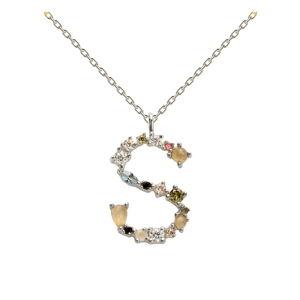 Stříbrný náhrdelník PD PAOLA Monogram S
