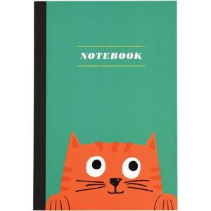 Zápisník s kočičkou o formátu A5 linkovaný Rex London, 60stran