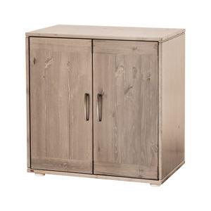 Hnědá dětská skříňka z borovicového dřeva Flexa Classic