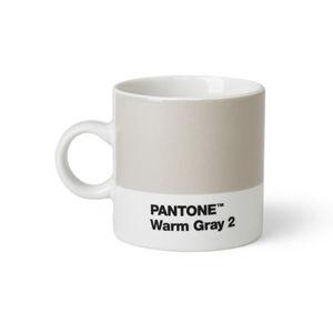 Světle šedý hrnek Pantone Espresso, 120 ml