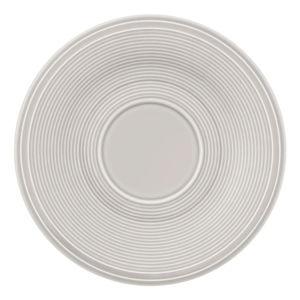 Bílo-šedý porcelánový podšálek Like by Villeroy & Boch Group, 15,5 cm