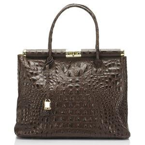 Hnědá kožená kabelka Lisa Minardi Lantha